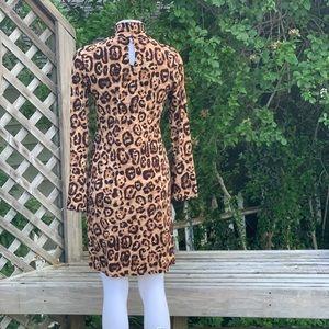 INC International Concepts Dresses - Long sleeve animal print dress